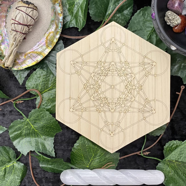 150mm Double Metatron Cube - Hex