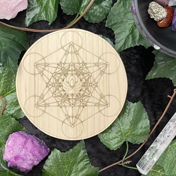 150mm Double Metatron Lotus - Round