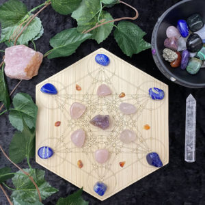 200mm Double Metatron Lotus - Hex - With Crystals
