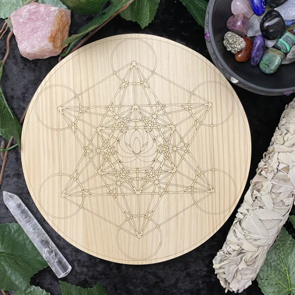 200mm Double Metatron Lotus - Round