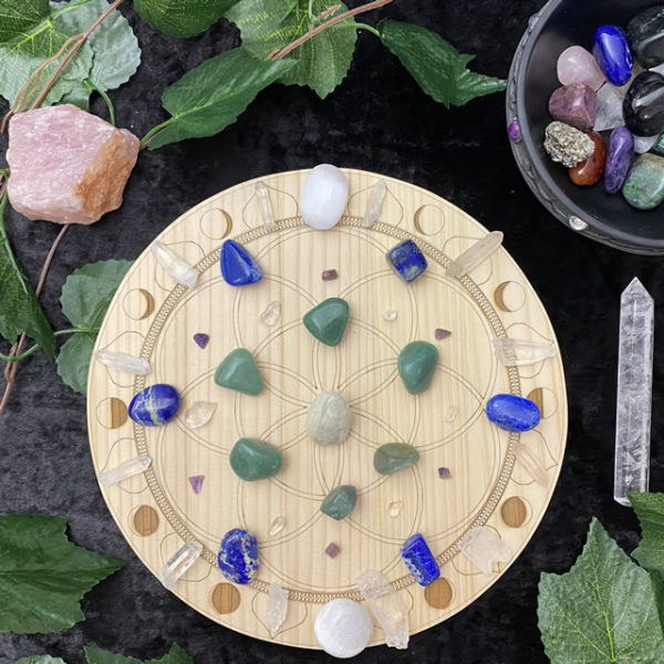 250mm Seed of Life - Moon Phase- With Crystals